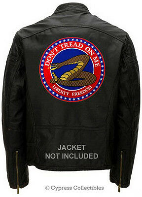 DONT TREAD ON ME EMBROIDERED BIKER PATCH SNAKE LARGE iron-on gadsden HUGE SIZE