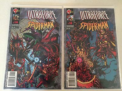 Ultraforce/Spider-Man #1a and #1b high grade NM Ultraverse
