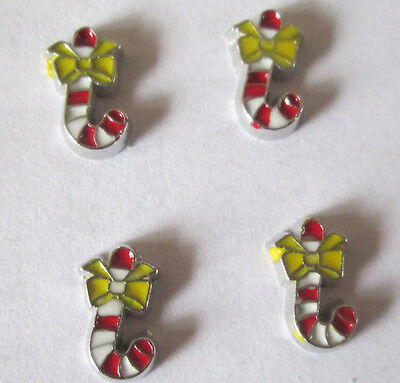 10PCS Christmas Candy floating charm DIY for glass living memory locket #1008