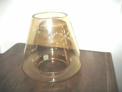 Partylite Golden Lustre Candle Jar Decorative Shade Beautiful