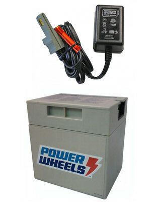 Power Wheels Barbie Jammin Jeep Wrangler Rechargeable Battery and Charger