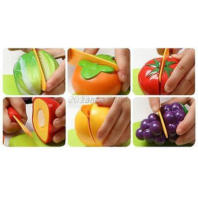 Kids Educational Toys Fruits Vegetable Cutting Food Kitchen Pretend Play set F67