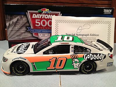 2014 Action Danica Patrick #10 Godaddy Test Car 1/24 Autographed 1 of 144