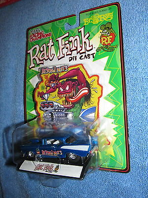 "WOW ""RAT FINK"" ED ""BIG DADDY"" ROTH DIECAST WITH ""RAT FINK FIGURE NIP"