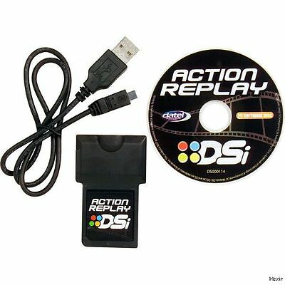Action Replay (Nintendo DSi DS Lite) Datel New Cartridge Cheat Codes w USB Cable