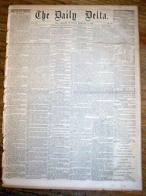 1859 New Orleans Delta LOUISIANA newspaper w 5 DENTIST ADS Extractions  Dentures