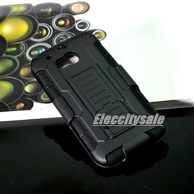 HYBRID OUTDOOR HOLSTER SILICON HARD BUMPER ARMOR CASE COVER SKINS FOR HTC ONE M8