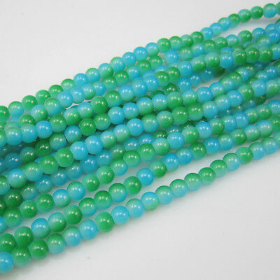 NEW 100pcs 4mm Ball Loose Glass crystal Beads for Fit Bracelets Necklaces Mix S2
