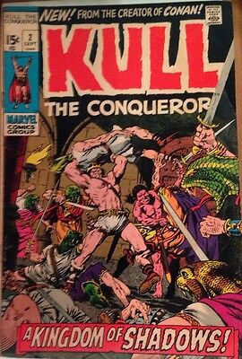 Kull The Conqueror  #2  Marvel 1971 Great Shape Bronze Age