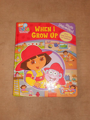 NICK JR DORA THE EXPLORER WHEN I GROW UP LARGE FIRST LOOK & FIND BOOK