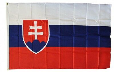 SLOVAKIA  FLAG 3 x 5 '   COUNTRY FLAG   -  NEW 3X5 INDOOR OUTDOOR COUNTRY FLAG