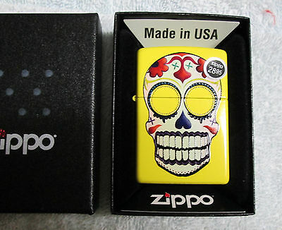 Zippo Lighter Day Of The Dead dod  cigarette new  in box  free shipping