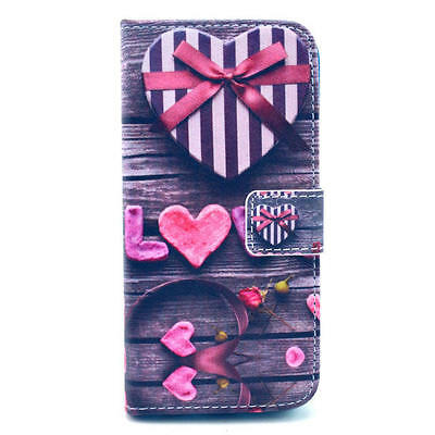 """Love Gift Printed Leather Flip Stand Wallet Case Cover for iPhone 6 Plus 5.5"""""""