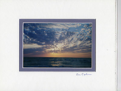 """GULF COAST SUNSET 4"""" X 6"""" PHOTO DOUBLE MATTED IN AN 8"""" X 10"""" READY FOR FRAMING"""