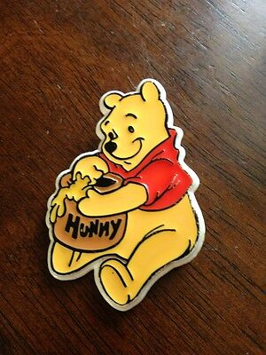 Authentic Walt Disney World Vintage Plastic Winnie the Pooh Honey Pot Pin Badge
