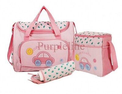 New Style Mommy Diaper Nappy Bag for Baby Mummy Shoulder Handbag Pink #2
