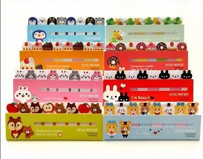 Cute Animals Sticker Post-It Bookmark Marker Memo Flags Index Tab Sticky Notes U