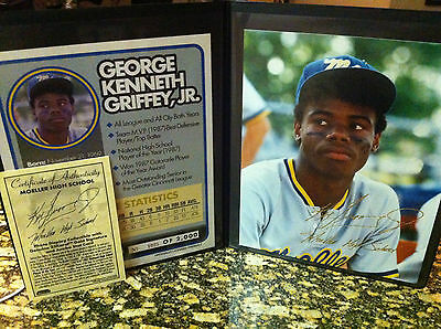 KEN GRIFFEY JR 23KT GOLD AUTOGRAPHED 8X10 HIGH SCHOOL PHOTO! LIMITED TO 2,000!