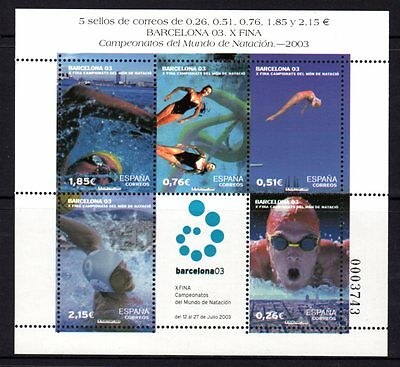 Spain 2003 Swimming Championships Sheetlet 5 MNH