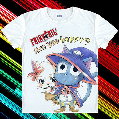 Japanese Anime Fairy Tail Clothing Costume T-shirt D-04