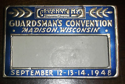 Vtg 1948 Pin Badge - National Guardian Life Insurance Co. Convention Madison WI
