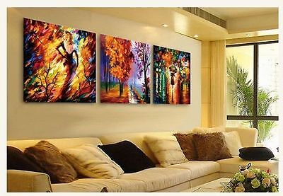 3pc Modern Abstract Large Art Canvas Oil Painting On Wall Decor