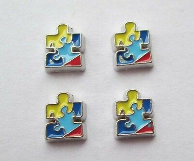 New DIY mix colour 4PCS floating charm for glass living memory locket #448