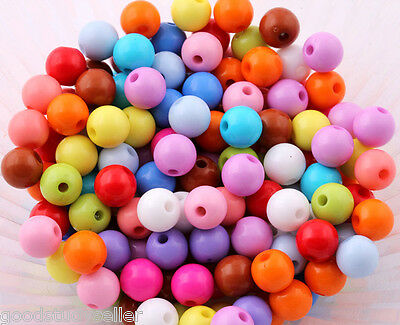 200 Pcs 6mm mixed acrylic spacer Necklace Bracelets loose beads~findings~charms