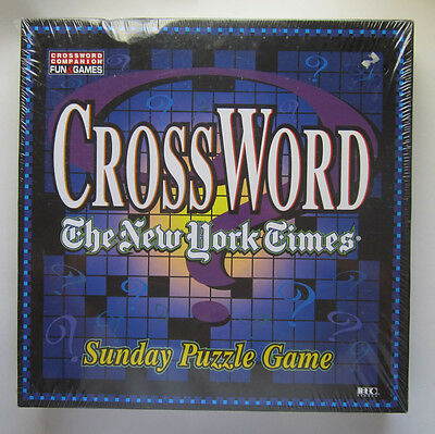 The New York Times Sunday Crossword  Puzzle Game New Factory Sealed