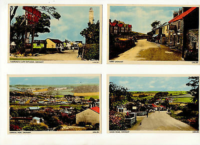 Gronant.4 Postcards.shore Road,rainfords Camp,general View & Upper Gronant