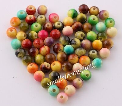 200 pcs Mixed color Fruit style Acrylic loose Spacer Beads Charms Findings 6mm