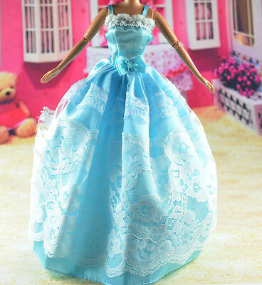 lovely New Handmade Party Clothes Fashion Dress for Noble Barbie Doll   **bab01