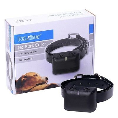 Waterproof Rechargeable Anti Bark No Barking Shock Collar Dog Sound Control