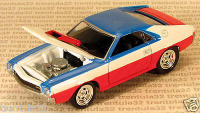 Red White & Blue '68 AMC AMX 1968 OPENING HOOD Ultra-Rare Johnny Lightning Loose