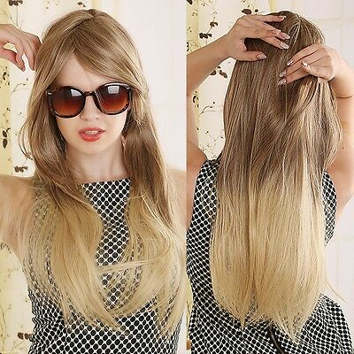 Lady' Girl Cosplay Costume Rose Cap Wig Straight Blonde Mix Full Long Hair Wig
