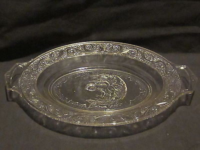 EAPG Belmont Glass Crying Baby Bread Plate