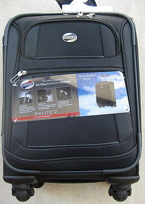 NEW American Tourister 17' DeLite 2.0 Spinner Carryon Suitcase - Black