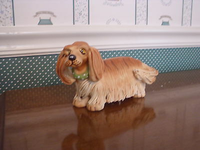 WESTLAND-TOP DOGS-CABOOSE- THE LONG HAIRED DACHSHUND-FIGURINE.-MIB