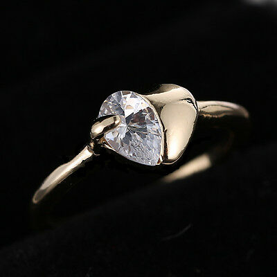 Size 7 New Jewellery Ring 18K Rose Gold Filled white Sapphire Engagement Gift