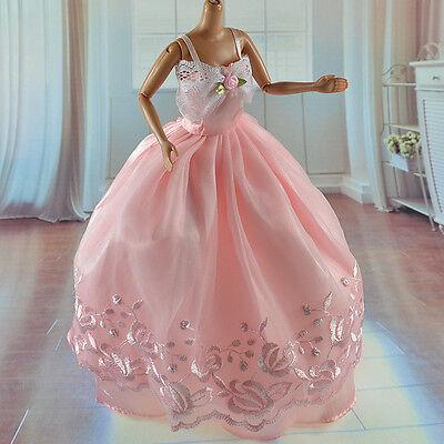 lovely New Handmade Party Clothes Fashion Dress for Noble Barbie Doll   *&*W04