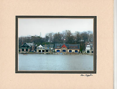 """BOATHOUSE ROW PHILADELPHIA 5"""" X 7"""" PHOTO DOUBLE MATTED IN AN 8"""" X 10""""  MAT"""