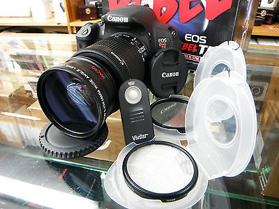 Wide Angle Macro Lens For Canon Eos Digital Rebel xt t3 t3i t4 t5i  w/18-55 kit