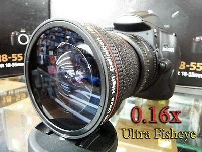New Ultra Wide Angle Macro Fisheye LENS FOR Canon XHA1 XL1S H1 G1 G1X 50D 60D