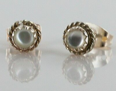 Delicate-$50 Tag-AUTHENTIC K. McCray Navajo-.925 Mother of Pearl Stud Earrings 1