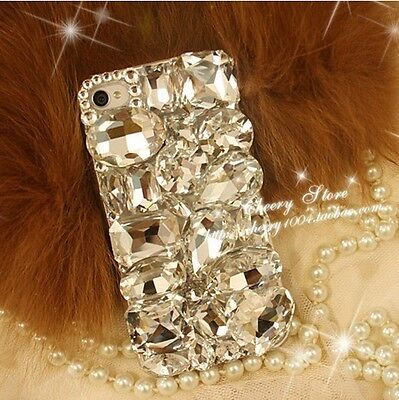 HOT Big Clear Crystal Finished hard Case cover skin for iPhone5 5S