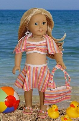 "doll clothes 6 pc. Swimsuit lot, your American Girl's Dream! fits 18"" dolls"