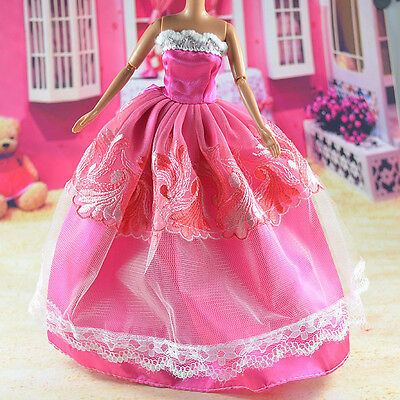 lovely New Handmade Party Clothes Fashion Dress for Noble Barbie Doll   **bab76