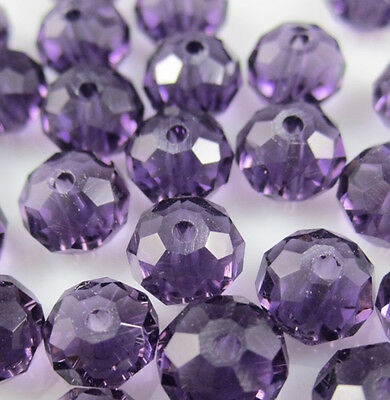 NEW Jewelry Faceted 100 pcs Violet #5040 3x4mm Roundelle Crystal Beads DIY