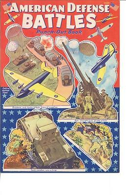 Vintge Uncut 1940 American Battles Paper Dolls Hd Laser Reproduction~Lo Pr~Hi
