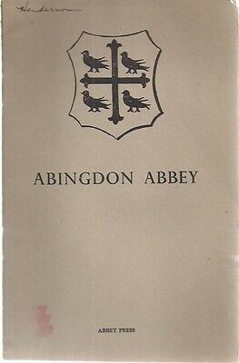 ABINGDON ABBEY Some Notes on its History & Buildings (1949) 20-page booklet UK